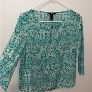 H&M Teal Blouse Top